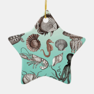 Marine Life Ceramic Star Ornament