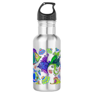 Marine Life Exotic Fishes & SeaHorses 532 Ml Water Bottle