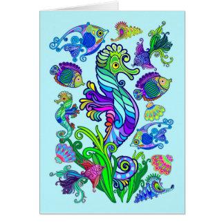 Marine Life Exotic Fishes & SeaHorses Card
