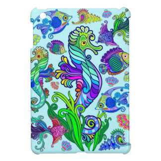 Marine Life Exotic Fishes & SeaHorses iPad Mini Cases