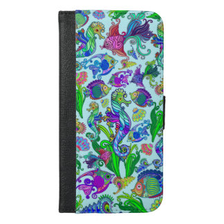 Marine Life Exotic Fishes & SeaHorses iPhone 6/6s Plus Wallet Case