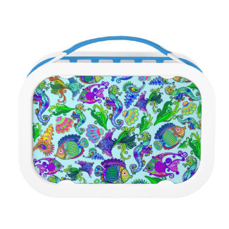 Marine Life Exotic Fishes & SeaHorses Lunch Box