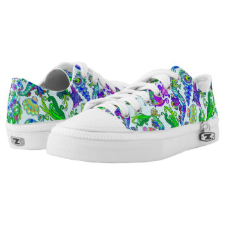Marine Life Exotic Fishes & SeaHorses Ornamental S Low-Top Sneakers
