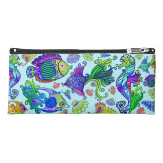 Marine Life Exotic Fishes & SeaHorses Pencil Case