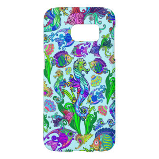 Marine Life Exotic Fishes & SeaHorses Samsung Galaxy S7 Case