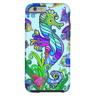 Marine Life Exotic Fishes & SeaHorses Tough iPhone 6 Case