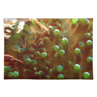 Marine life in the blue ocean water placemat