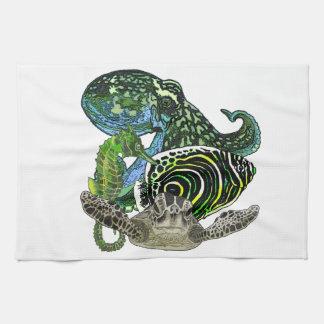 Marine life kitchen towel