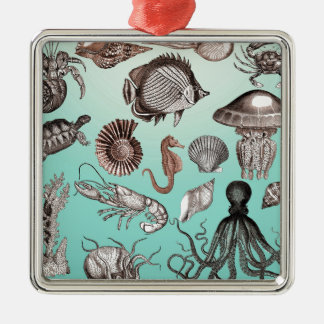 Marine Life Metal Ornament