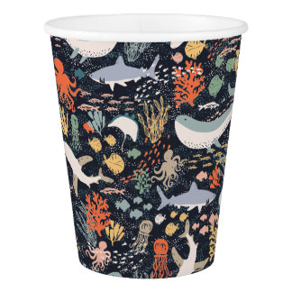 Marine Life Paper Cup