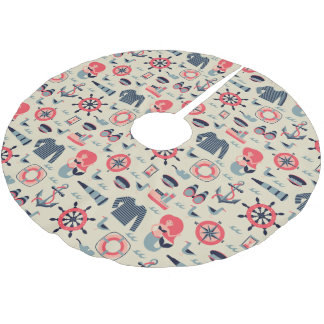 Marine Life Pattern Brushed Polyester Tree Skirt