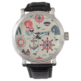 Marine Life Pattern Wristwatch