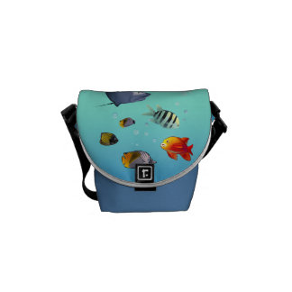 Marine Life Scene Courier Bag