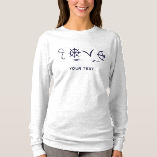 Marine love with figures T-Shirt