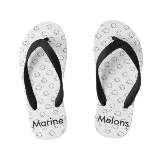 Marine Melons sandals Kid's Flip Flops