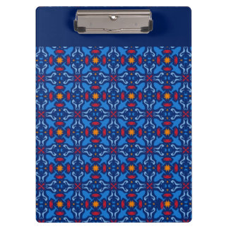 Marine navy blue pattern clipboards