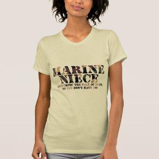Marine Niece Answering Call T Shirt
