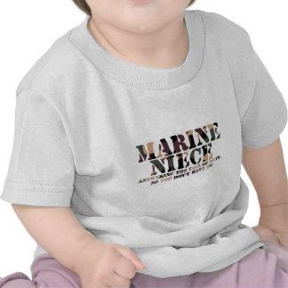 Marine Niece Answering Call T Shirts