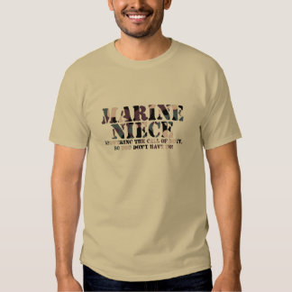 Marine Niece Answering Call Tshirts