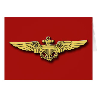 Marine Pilot Wings Cards