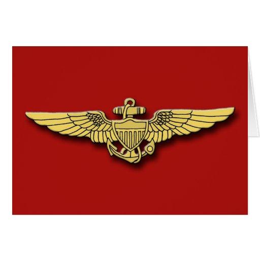 Marine Pilot Wings Cards