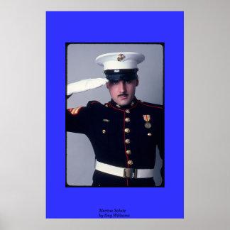 Marine Salute Poster