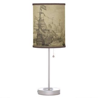 Marine scene table lamp