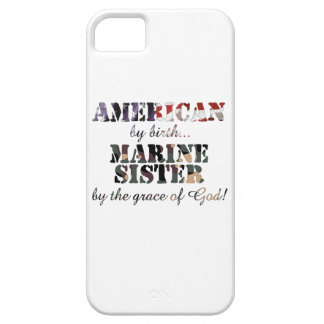 Marine Sister Grace of God iPhone 5 Cover