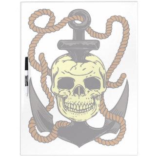 Marine Skull Tattoo Dry Erase Board