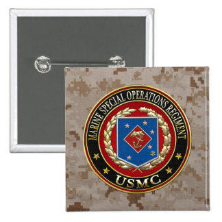 Marine Special Operations Regiment (MSOR) [3D] 2 Inch Square Button