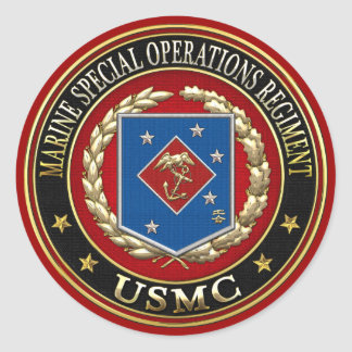 Marine Special Operations Regiment (MSOR) [3D] Round Sticker