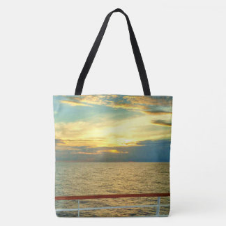 Marine Sunrise Tote Bag