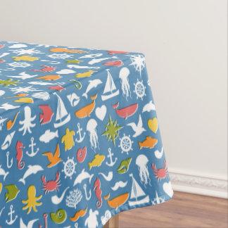 Marine Symbols Pattern Tablecloth