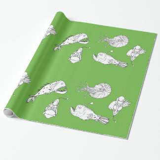 Marine theme wrapping paper