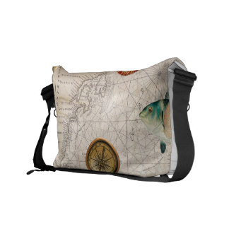Marine Treasure Blue Stripes Commuter Bag