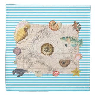 Marine Treasure Blue Stripes Duvet Cover