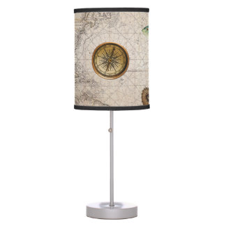 Marine Treasure Blue Stripes Table Lamp