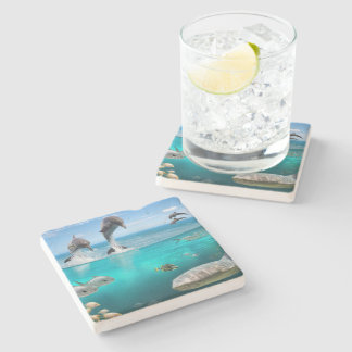 Marine Wildlife Stone Coaster