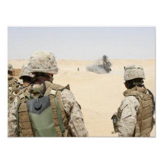 Marines and sailors photo print