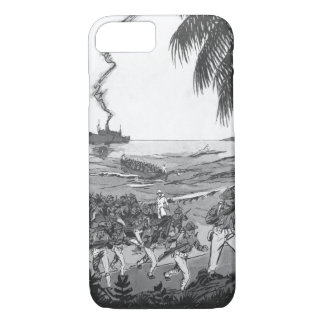 Marines landing under fire at Santo_War Image iPhone 7 Case