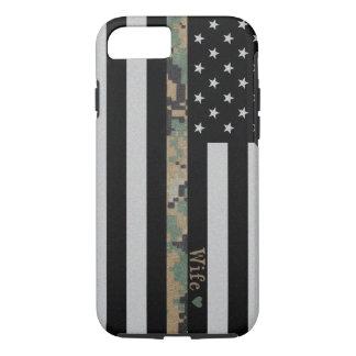Marines/Navy Martar Camo Wife Line Flag iPhone 7 iPhone 7 Case