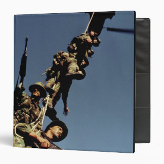 Marines on a SPIE RIG. a rope device that will Vinyl Binders