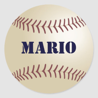 Mario Baseball Sticker / Seal