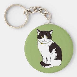 Mario da Cat Basic Round Button Keychain