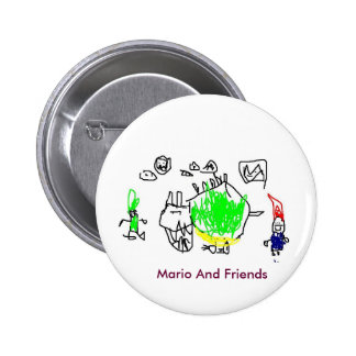 Mario, Luigi And Bowser Button