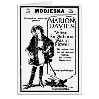 Marion Davies Knighthood Flower 1923 Card