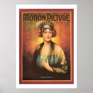 Marion Davies Vintage 1919 Movie Magazine Print