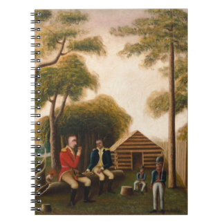Marion Feasting the British Officer Spiral Notebook