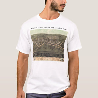 Marion Historical Society with 1868 panoramic map T-Shirt