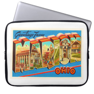 Marion Ohio OH Old Vintage Travel Souvenir Laptop Sleeves